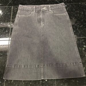 THEORY Denim Skirt size 0 black/gray